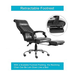 Acepro Reclining Chair High Back Executive Swivel Office Chair Racing Style Gaming Computer Versatile Desk Chair With Footrest