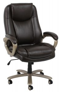 Essentials by OFM ESS-201 Big and Tall Leather Executive Office Chair with Arms