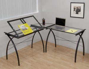 Studio Designs Futura LS WorkCenter with Tilt in Black with Clear Glass 50308