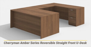 Cherryman Amber Series Reversible Straight Front U-Desk