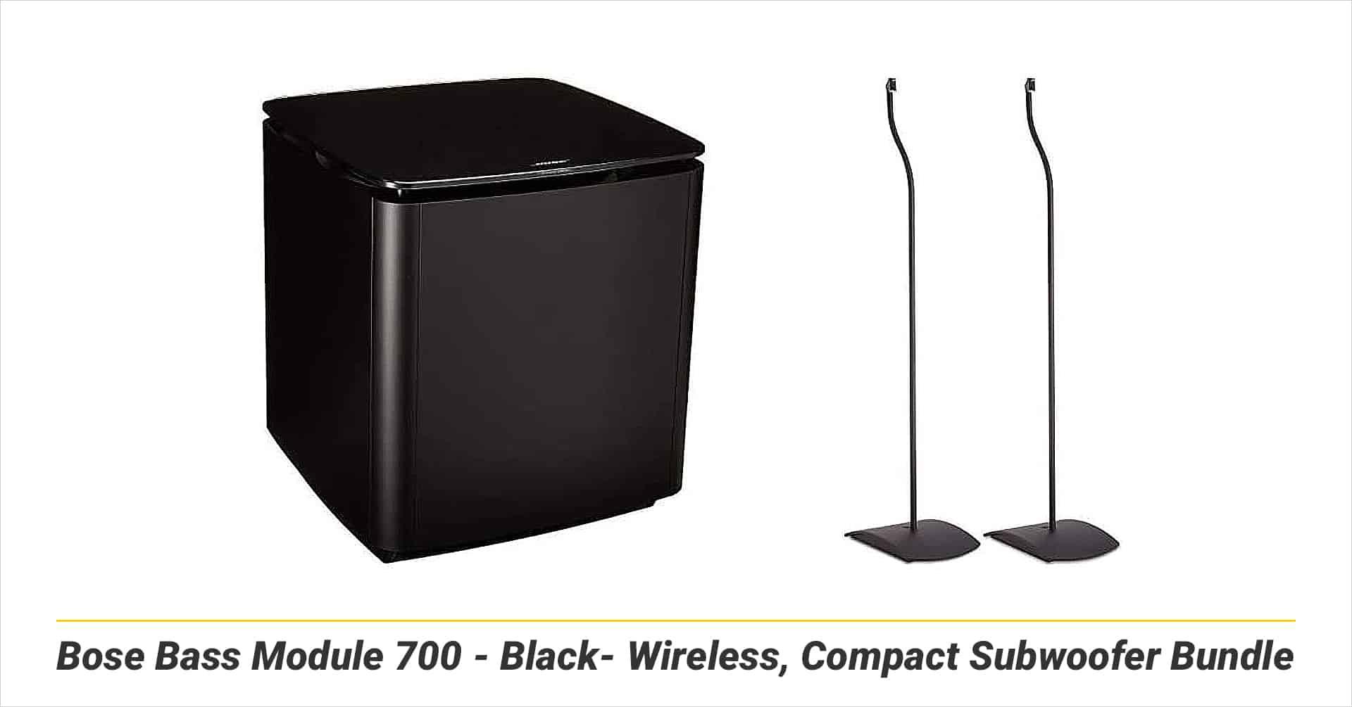 Bose Bass Module 700 - Black- Wireless, Compact Subwoofer Bundle