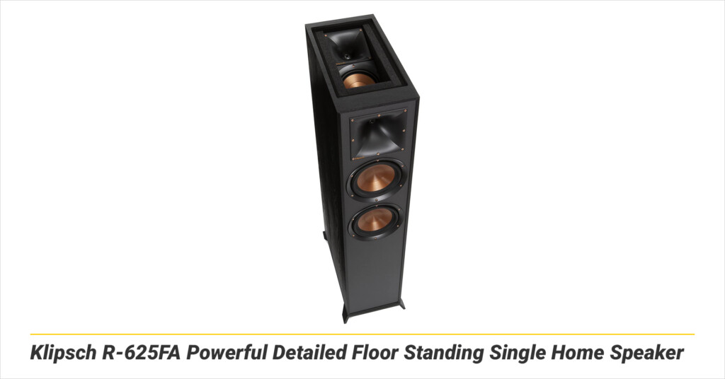 Klipsch R-625FA Powerful Detailed Floor Standing Single Home Speaker
